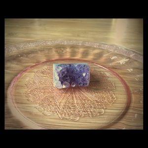 Jewelry - Amethyst Geode Ring- Sz 9